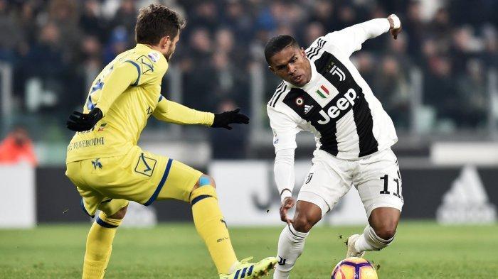 Babak Pertama Juventus Vs Chievo Pekan 20 Liga Italia, Skor Sementara 2-0 lewat gol yang dicetak Douglas Costa dan Emre Can