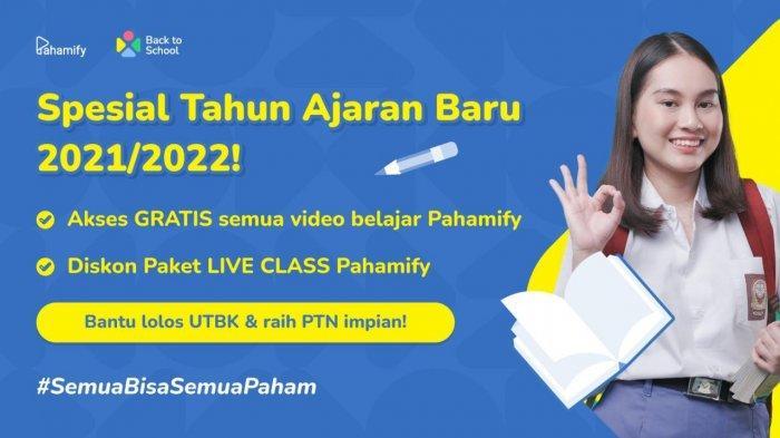 Back to School, Pahamify Beri Akses Video Gratis dan Diskon Sadis untuk Paket Persiapan SBMPTN!