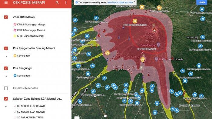 Pantau Lokasi Rawan Bencana Gunung Merapi Secara Real Time dengan Cara Ini