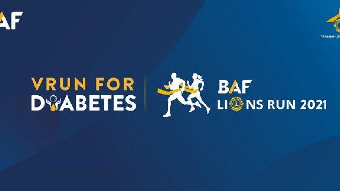 BAF Lions Run 2021 VRun for Diabetes DIgelar Secara Virtual