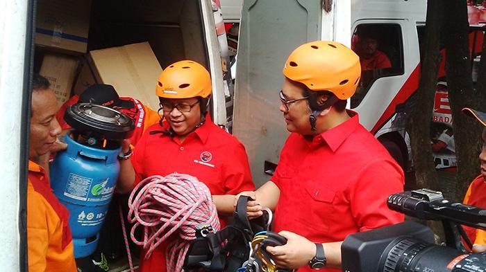 125 Personel Baguna PDI Perjuangan Terjun ke Lokasi Bencana Asap