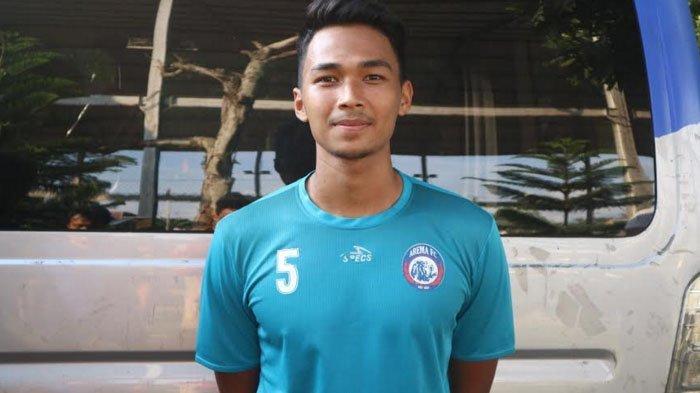 Pemain muda Arema FC, Bagas Adi Nugroho. SURYA/ALFI SYAHRI RAMADAN