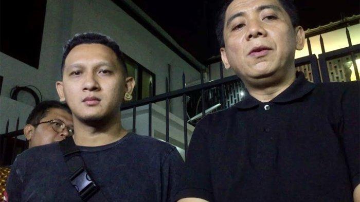 Bagus Permadi dan Sandy Arifin saat ditemui di Ditres Narkoba Polda Metro Jaya, Jakarta Pusat, Minggu (21/7/2019).