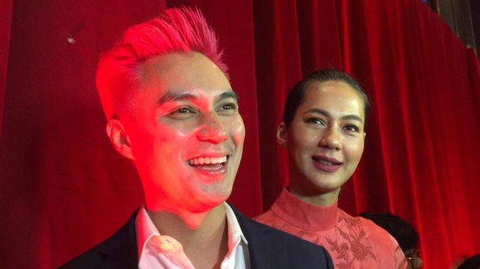 Baim Wong dan Paula Verhoven saat ditemui di acara HUT ke-16 Insert di Trans TV, Tendean, Jakarta Selatan, Selasa (30/7/2019).