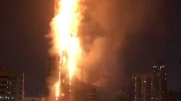 Pencakar Langit 48 Lantai di Dubai Terbakar, Pemicunya Puntung Rokok yang Dilempar