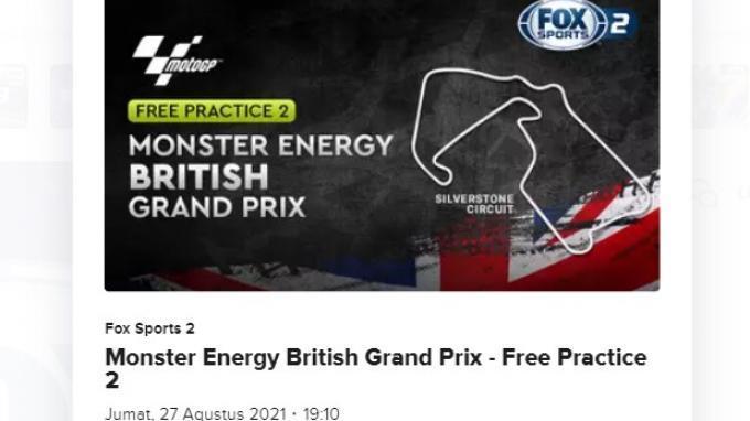 Balapan MotoGP Inggris 2021 sesi FP1 dan FP2 di Sirkuit Silverstone dapat disaksikan via live streaming Vidio.com, Jumat (27/8/2021) mulai pukul 15.00 WIB.