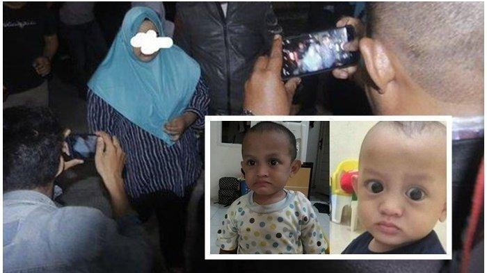 DIAMANKAN POLISI- Pengasuh balita Ahmad Yusuf Gazali(4) yang ditemukan meninggal mengenaskan ditemukan parit saluran air sungai, berinisial (ML) dan (SY) diamankan polisi di Mapolsek Samarinda Ulu Jalan Juanda Kota Samarinda Kalimantan Timur, Selasa (21/01/20)