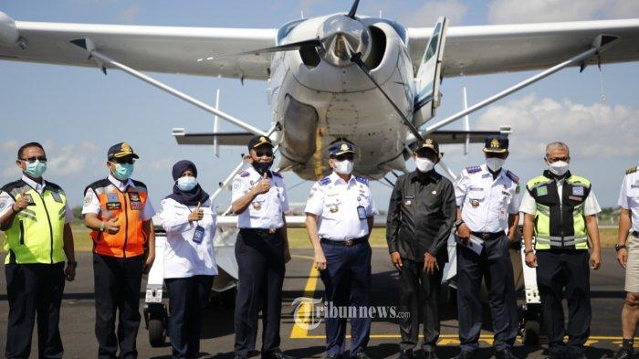 Dukung Pariwisata, Balitbanghub Lakukan Uji Operasional Pesawat Apung Rute Bali Menuju Gili Iyang.