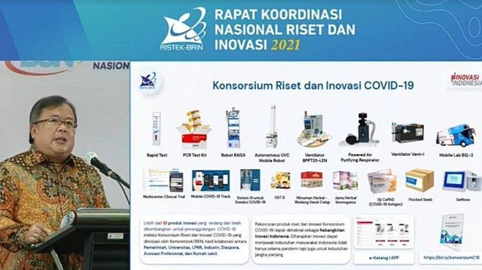 Menteri Riset dan Teknologi/Kepala Badan Riset dan Inovasi Nasional (Menristek/Kepala BRIN) Bambang Brodjonegoro, dalam Rapat Koordinasi Riset dan Inovasi 2021 di Puspiptek Serpong dan ditayangkan melalui kanal Youtube resmi, Rabu (27/1/2021).