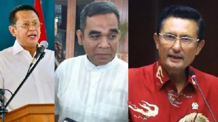 Bambang Soesatyo, Ahmad Muzani dan Fadel Muhammad