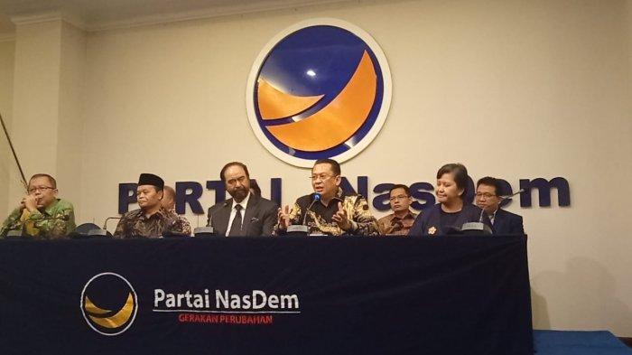 Ketua MPR Berkunjung ke DPP Nasdem, Bahas Amandemen Hingga GBHN