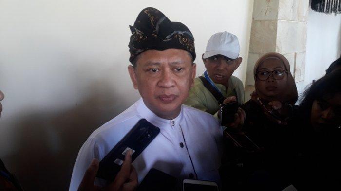 Ketua DPR Bambang Soesatyo (Bamsoet) usai membuka acara Forum Parlemen Dunia di Bali, Rabu, (4/9/2019).