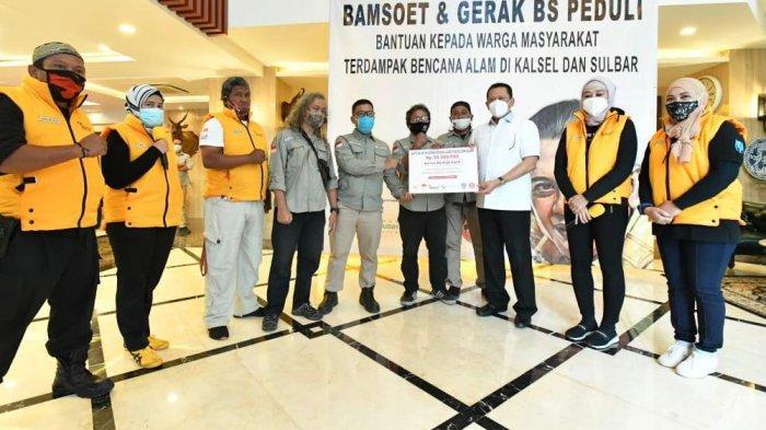 Bamsoet dan Gerak BS Kirim Bantuan dan Relawan 4 Pilar Bantu Korban Bencana di Kalsel dan Sulbar