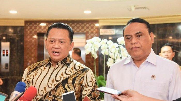 Ketua DPR RI Bambang Soesatyo dan MenPAN RB Syafruddin