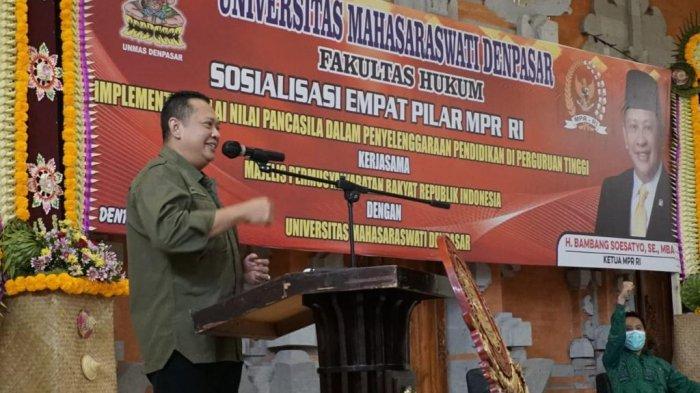 Bamsoet Apresiasi Universitas Mahasaraswati Bali Dukung MPR RI Susun PPHN Melalui Amandemen Terbatas