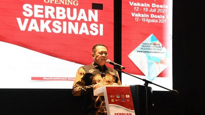 Buka 'Serbuan Vaksinasi' BAIS TNI, Bamsoet Ajak Masyarakat Ikuti Vaksinasi Covid-19