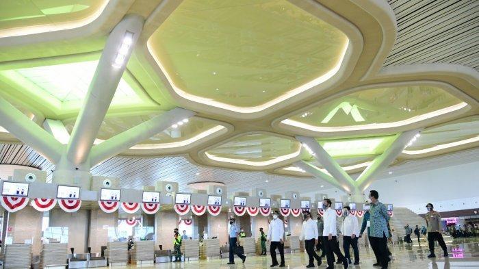 Presiden Joko Widodo (Jokowi) meresmikan Bandara Internasional Yogyakarta (Yogyakarta International Airport), Jumat, (28/8/2020).