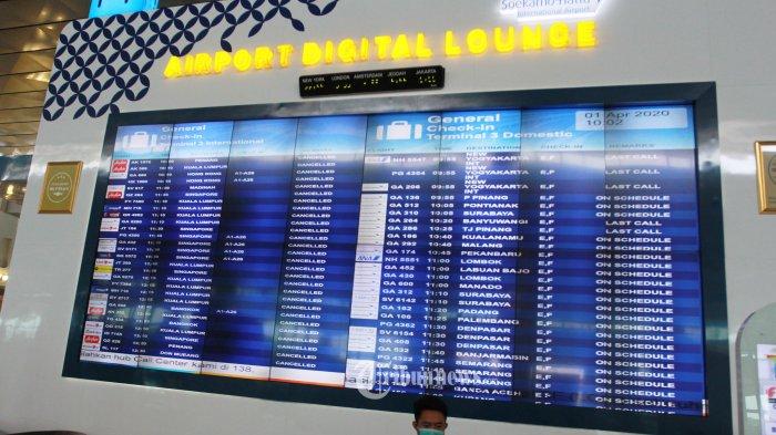 Ada Larangan Mudik, Bandara Soekarno-Hatta Hentikan Penerbangan Komersial hingga 1 Juni 2020