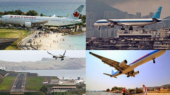 5 Bandara Paling Berbahaya di Dunia - Tribunnews.com