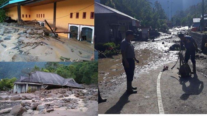 Banjir bandang Agam tepatnya di Galapung Tanjung Sani, Kabupaten Agam Sumbar, Rabu (20/11/2019).
