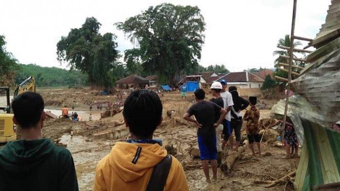 Kondisi pemukiman warga korban banjir bandang di Kabupaten Lebak, Banten, Kamis (2/1/2020).