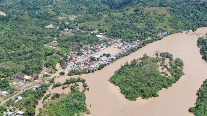 Banjir Terjang Kabupaten Malinau Kalimantan Utara, Warga Beberapa Desa Mengungsi