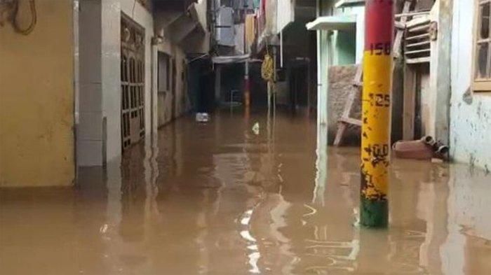 Selasa Pagi 17 RW di 8 Kelurahan Wilayah Jakarta Terendam Banjir