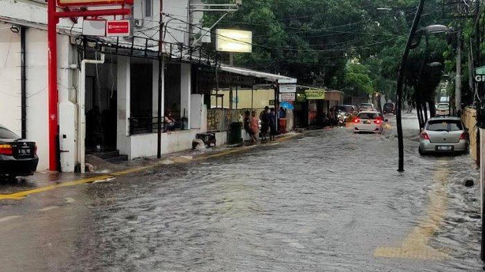 Jalan Jaksa, Kebon Sirih, Menteng, Jakarta Pusat, Rabu (1/1/2020) pagi.