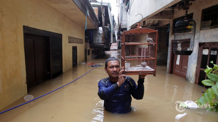 Kali Ciliwung Meluap, Kebon Pala Diterjang Kebanjiran, Warga Pilih Bertahan di Rumah
