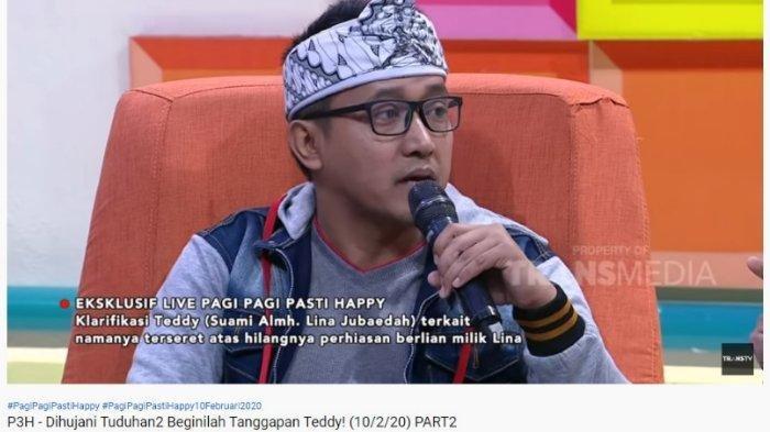 Teddy Pardiyana menyebutkan mendiang istrinya, Lina Jubaedah, tidak mendapatkan harta gono-gini dari perceraian dengan Sule, dalam tayangan Pagi-Pagi Pasti Happy, Senin (10/2/2020).