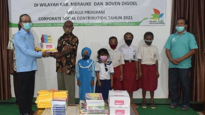 Ribuan Murid di 36 Sekolah di Merauke dan Boven Digoel Terima Bantuan Alat Tulis