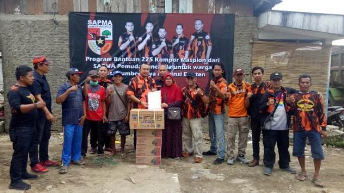 Sapma Pemuda Pancasila Beri Bantuan dan Trauma Healing Bagi Korban Tsunami Banten