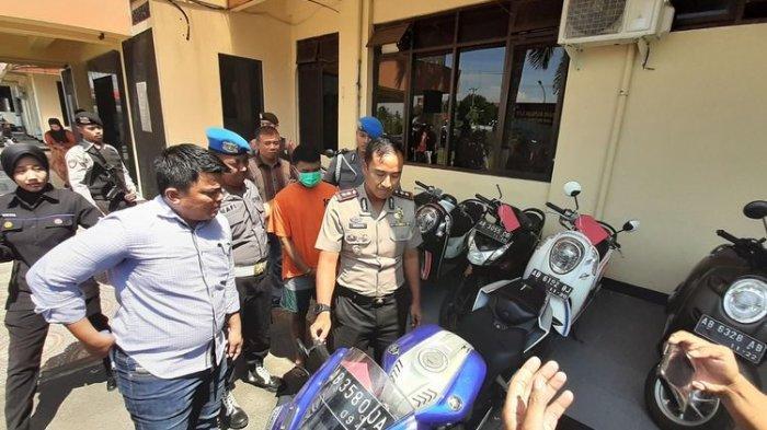 Kapolres Bantul, AKBP Wachyu Tri Budi Sulistyono, Saat Jumpa Pers di Mapolres Bantul Selasa (14/1/2020).