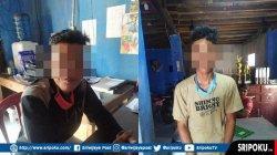 Bapak-Anak Bacok Seorang Pria di Tulung Selapan, Dibawa dan Ditahan di Mapolres OKI,