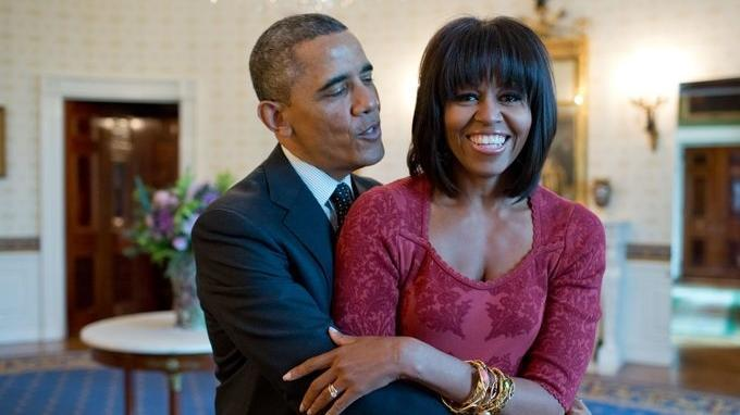 Barack Obama dan Michelle Obama.