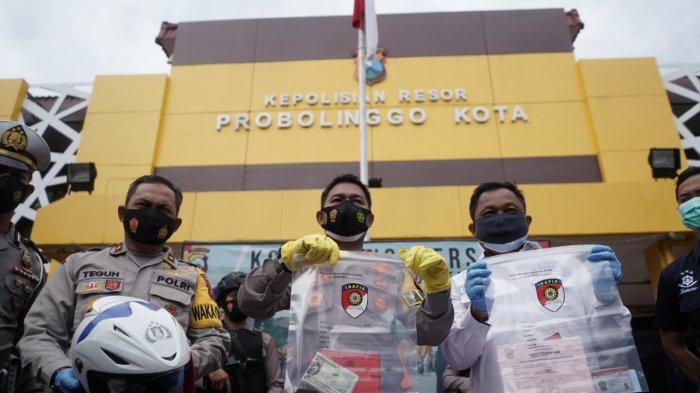 Barang bukti yang diamankan oleh Polres Probolinggo Kota