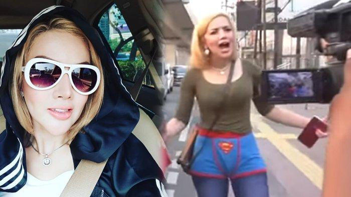 Barbie Kumalasari ngamen pakai kolor Superman