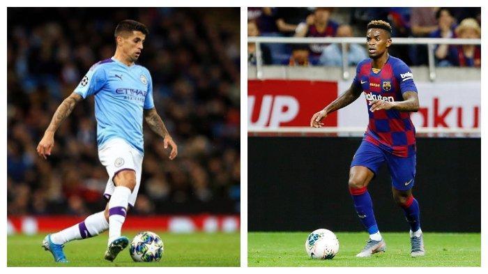 Joao Cancelo (Manchester City) dan Nelson Semedo (Barcelona)