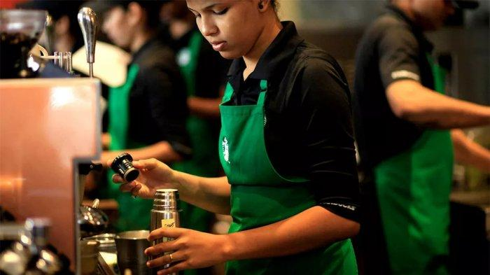 Ada Hijau dan Hitam, Apa Makna Warna Apron Barista Starbucks?