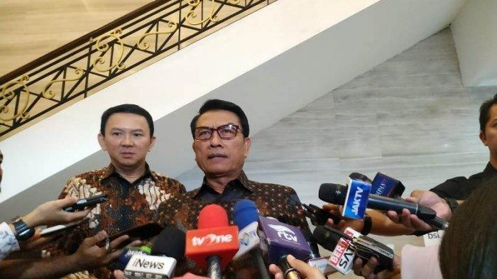 Kepala Staf Kepresidenan Moeldoko bersama Komisaris Utama Basuki Tjahaja Purnama (Ahok)