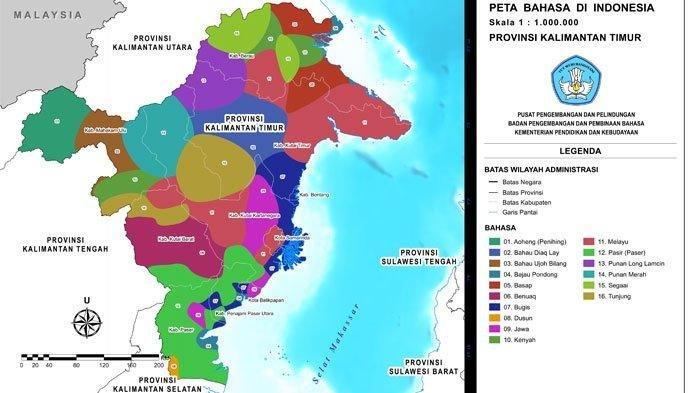 Batas-batas wilayah kabupaten dan kota di Kalimantan Timur.