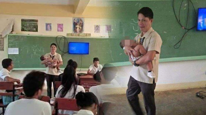 Karena Iba, Seorang Guru SMA Menjaga Bayi Siswinya saat Sang Murid Ujian