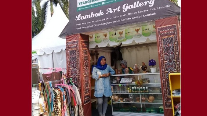 Kotak Amal Berjalan untuk Bantu Korban Bencana Lombok di Festival Al Azhom