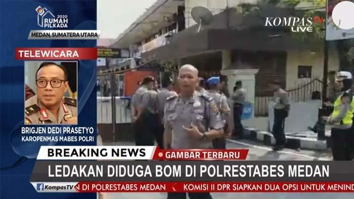 Ledakan diduga bom terjadi di Polrestabes Medan, Rabu (13/11/2019)