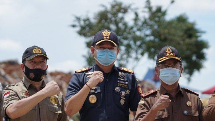 532,9 Ton Ammonium Nitrat Hasil Tangkapan Bea Cukai Dimusnahkan di Tanjung Balai Karimun