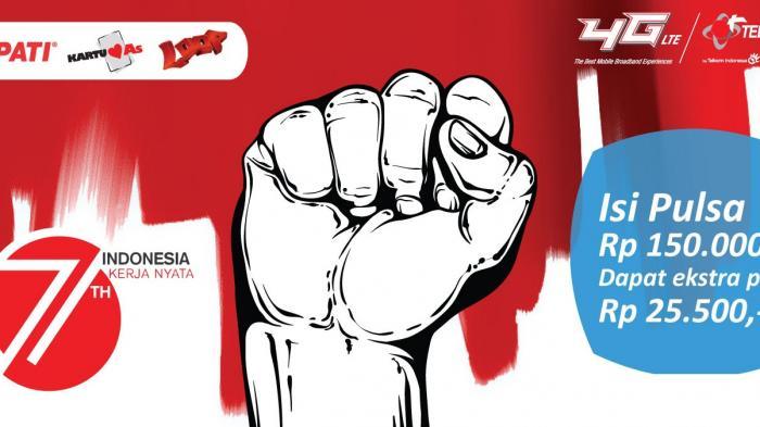 Rayakan Hari Kemerdekaan dengan Bonus Pulsa dari Telkomsel