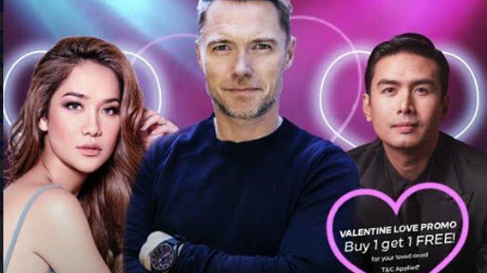 Poster konser Romantic Valentine Concert With Ronan Keating Featuring Bunga Citra Lestari & Christian Bautista yang akan digelar pada 29 Februari 2020 di Grand Ballroom Pullman Jakarta Central Park