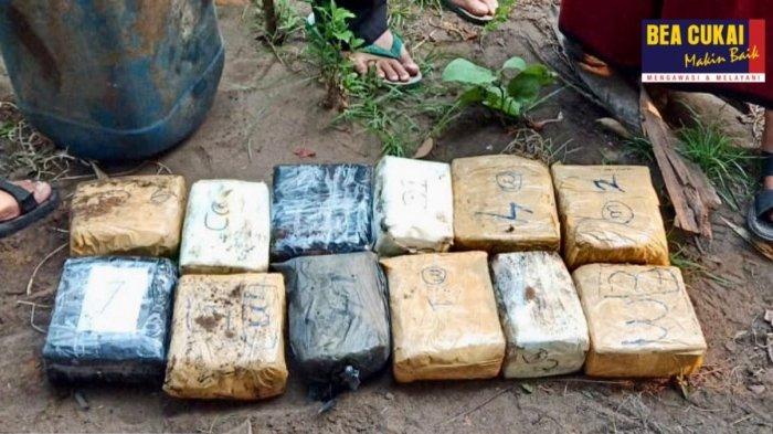 Barang bukti sabu yang dikemas dalam 12 bungkus seberat masing-masing 1 kg.