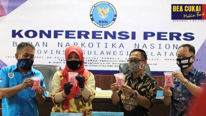 Di Semester Pertama 2020, Bea Cukai Makassar dan BNN Gagalkan Empat Penyelundupan Narkotika