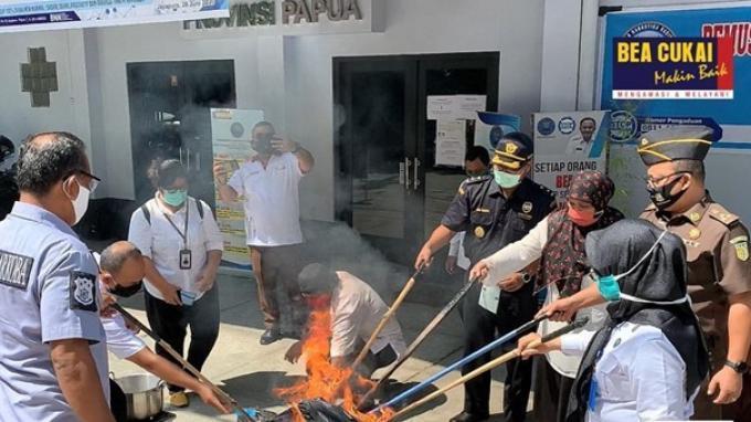 Memperingati Hari Anti Narkotika Internasional, Bea Cukai Turut Musnahkan Narkotika Bersama BNN